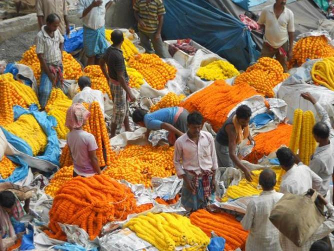 15. Flower market - Inde 2014