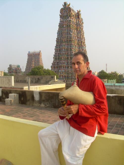 Dravidian temple, Maduraï Inde 2009